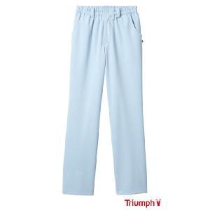 トリンプ 白衣 女性 メンズ 兼用 ズボン トリンプ 白衣 サックス ストレートパンツ Triumph Sweet