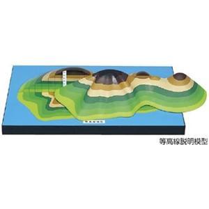 等高線説明模型(500×310×120mm)|suzumori
