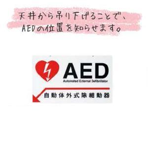 AEDサインプレート天井吊下げ用 30x18cm|suzumori