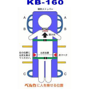 ベルカ 介護用 KB-160 介護担架 ワンタッチ式ベルトタンカ suzumori
