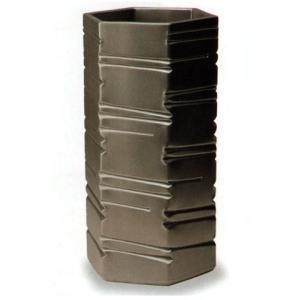 信楽焼陶器 傘立 六角ブラック 傘立 高さ48cm G5-6807|suzunet-sho