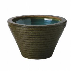 信楽焼陶器 金ソバ水鉢SA-9 16号  SA105-1|suzunet-sho