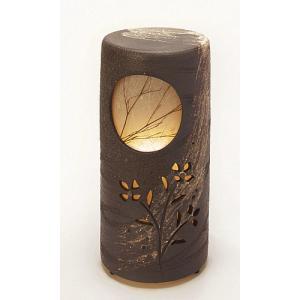 信楽焼陶器 室内照明 初月燈 屋内用 高51.5cm|suzunet-sho