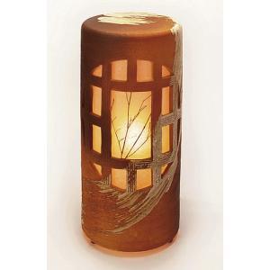 信楽焼陶器 室内照明 夕月夜燈 屋内用 高51.5cm|suzunet-sho