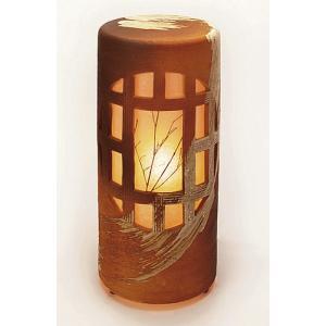 信楽焼陶器 夕月夜燈 屋外用 高51.5cm|suzunet-sho