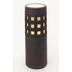 信楽焼陶器 スクウェアライト 屋外用 高57.0cm|suzunet-sho
