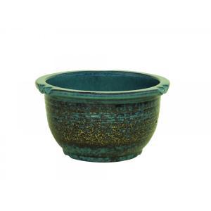 信楽焼陶器 生子千段水鉢 15号  SA104-1|suzunet-sho