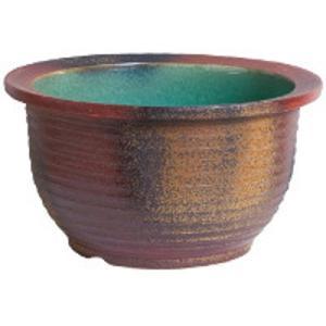 信楽焼陶器 コゲ千段水鉢 15号  SA104-2|suzunet-sho