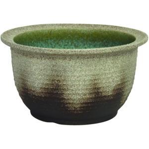 信楽焼陶器 灰釉千段水鉢 15号  SA104-6|suzunet-sho