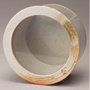 信楽焼焼陶器 白金彩丸水槽 (小)|suzunet-sho