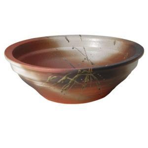 信楽焼陶器 火色ビードロ反型めだか鉢 直径47.5cm|suzunet-sho