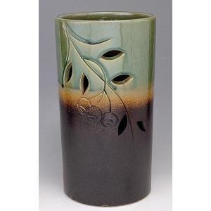 信楽焼陶器 南天彫傘立 高さ38.0cm|suzunet-sho