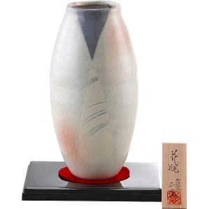 ●現品約12.5φ×25cm ●陶器(美濃焼)、花台=ABS樹脂 ●花台・赤布・木札付絵になる花瓶...