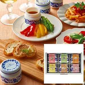 ●商品内容:トマトソース50g、バジルソース50g、豚肉のリエット50g、バーニャカウダソース50...