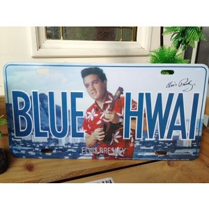 エルビスプレスリーナンバープレート'BLUE HAWAII'/EivisPresleyNumberPlate|suzuyatoy