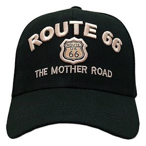 RT 66 (ルート 66) キャップ MOTHER ROAD EMBLEM ブラック 66-AW-CP001BK|swam
