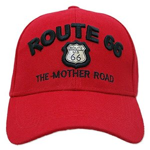 RT 66 (ルート 66) キャップ MOTHER ROAD EMBLEM レッド 66-AW-CP001RD swam