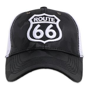 RT 66 キャップ ROAD SHIELD ブラック カモ 66-AC-CP-013BKCAMO/WH|swam