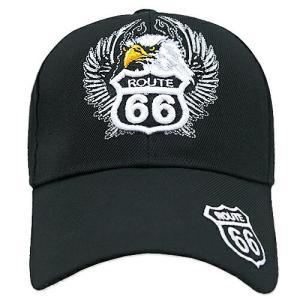 RT 66 (ルート 66) キャップ EAGLE ブラック 66-AW-CP002BK swam