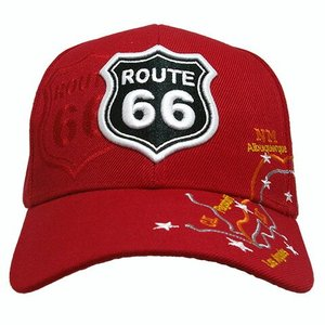 RT 66 (ルート 66) キャップ MAP レッド 66-AW-CP003RD|swam