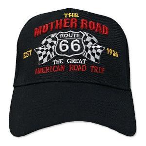 RT 66 (ルート 66) キャップ MOTHER ROAD RACING ブラック 66-AW-CP008BK|swam