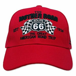 RT 66 (ルート 66) キャップ MOTHER ROAD RACING レッド 66-AW-CP008RE|swam