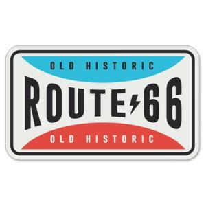 RT 66 (ルート 66) ステッカー ラージ Route 66 Retro Fun Plate 66-SP-ST-1154|swam