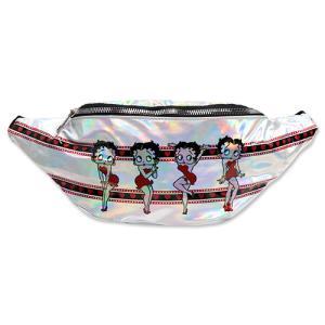 ベティブープ (Betty Boop)ウエスト バッグ シルバー(ホログラム) BB-SA-WB-ZFP35MUB-SI|swam