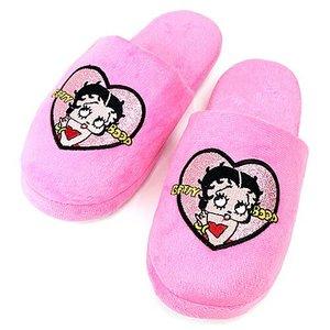 ベティブープ (Betty Boop) スリッパ ピンク BB-SA-SL-ZHEART-PK|swam