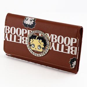 ベティブープ (Betty Boop)ロング ウォレット ブラウン BBAN606W-2406-BR|swam