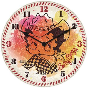 ベティブープ (Betty Boop) ガレージ クロック CowGirl Betty BB-PT-GC-027|swam
