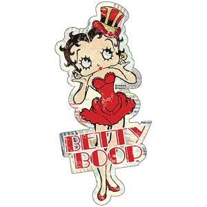 ベティ ブープ (Betty Boop) スティール サイン Betty Red Dress BB-PT-SS-028|swam