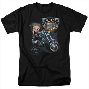ベティブープ (Betty Boop) Tシャツ CHOPPERS ブラック アダルト サイズ BBTV347AT|swam