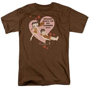 ベティブープ (Betty Boop) Tシャツ BREAKING HEARTS コーヒー アダルト サイズ BB-TV-AT-BB586|swam