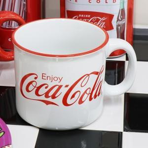 Coke (コカ・コーラ) ジャイアント マグ 21oz. Coca-Cola CC-GS-MG-01WH swam