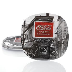 Coke (コカ・コーラ) ノワール 8.25inch デザート プレート 2枚セット CC-GS-DP-123216-01 swam