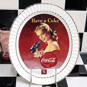 Coke (コカ・コーラ) 120th アニバーサリー 12inch オーバル プレート Have a Coke CC-LI-OP-L16872R swam