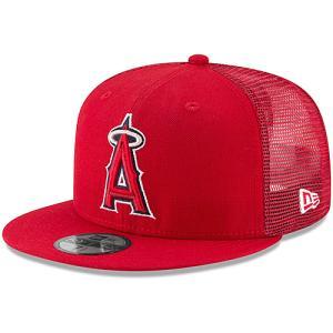 フラット バイザー キャップ エンジェルス Men's Los Angeles Angels New Era Red On-Field Replica Mesh Back 59FIFTY Fitted Hat レッド MLB-CP-9FIFTY-OFR-RD swam