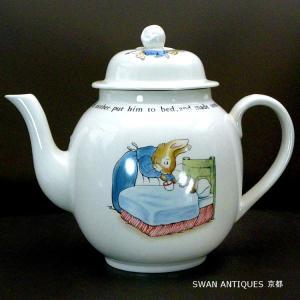 送料無料 ウェッジウッド Wedgwood ピーターラビット 旧刻印 英国製 ティーポット 未使用|swan-antiques