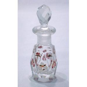 クリスタルガラスのパフュームボトル(香水入れ) swan-antiques
