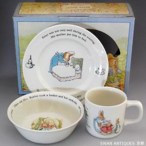 ウェッジウッド Wedgwood ピーターラビット  英国製 マグカップ・プレート3点セット 箱付き|swan-antiques