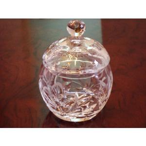 1950年代 英国 クリスタルガラス シュガーポット イギリス  swan-antiques