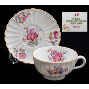 英国アンティーク コープランド・スポード 1890年代 カップ&ソーサー アイリス イギリス swan-antiques