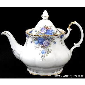 送料無料 ロイヤルアルバート Royal Albert 英国製 ムーンライトローズ ティーポットEngland 廃盤品 未使用|swan-antiques