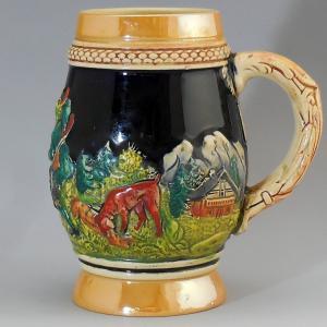 ドイツ製 陶器 ビアジョッキ 未使用|swan-antiques