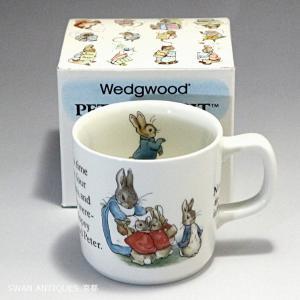 ウェッジウッド Wedgwood ピーターラビット 旧刻印 英国製 ビーカー マグカップ 箱付|swan-antiques