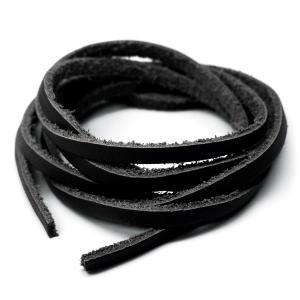 アレンジ自由自在本革100cmレザーコード幅3mm ハンドメイドに使えて便利 ブラック革紐 黒 ain107 おしゃれ|swan-hoseki