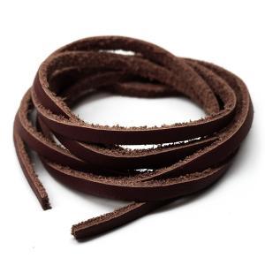 アレンジ自由自在本革100cmレザーコード幅3mm ハンドメイドに使えて便利 ブラウン革紐 茶 ain109 おしゃれ|swan-hoseki