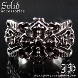 送料無料 ついにでた 最強ステンレスsvリング 十字架クロス CZ黒ダイヤ ブラック指輪sv重厚リング 20号 23号 25号 air50|swan-hoseki