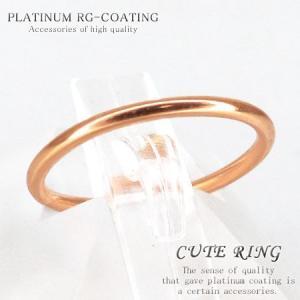 選べるサイズ 銀製シルバー925製 ピンキーリング プレーン ピンクゴールドカラー 人気 メンズ ペアリング レディース 極細シンプルリング 指輪 air63|swan-hoseki